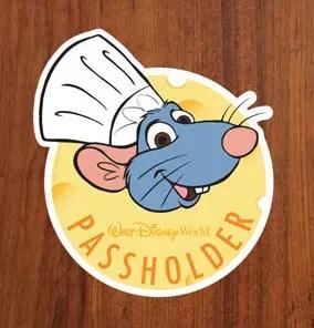 Chef Remy Walt Disney World Resort Annual Passholder Magnet