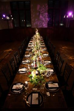 NEW YORK, NEW YORK - OCTOBER 16: A view of dinner table during the Olivia von Halle x Disney Maleficent: Mistress of Evil event at The High Line Hotel on October 16, 2019 in New York City. (Photo by Craig Barritt/Getty Images for Disney)