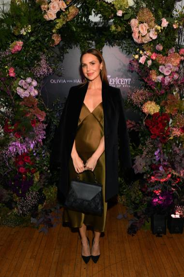 NEW YORK, NEW YORK - OCTOBER 16: (L-R) Arielle Kebbel, wearing Olivia von Halle, attends the Olivia von Halle x Disney Maleficent: Mistress of Evil event at The High Line Hotel on October 16, 2019 in New York City. (Photo by Craig Barritt/Getty Images for Disney)