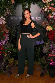 NEW YORK, NEW YORK - OCTOBER 16: Torrey DeVitto attends the Olivia von Halle x Disney Maleficent: Mistress of Evil event at The High Line Hotel on October 16, 2019 in New York City. (Photo by Craig Barritt/Getty Images for Disney)