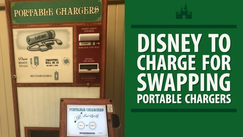 Disney to Charge for Swapping Portable Chargers