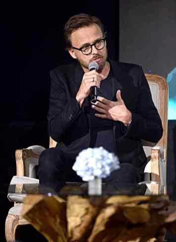"""BEVERLY HILLS, CALIFORNIA - SEPTEMBER 30: Director Joachim Ronning participates in the global press conference for """"Disney's Maleficent: Mistress of Evil"""" on September 30, 2019 in Beverly Hills, California. (Photo by Alberto E. Rodriguez/Getty Images for Disney)"""