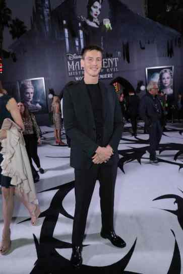 """Harris Dickinson attends the World Premiere of Disney's """"Maleficent: Mistress of Evil"""" at the El Capitan Theatre in Hollywood, CA on September 30, 2019 (photo: Alex J. Berliner/ABImages)"""
