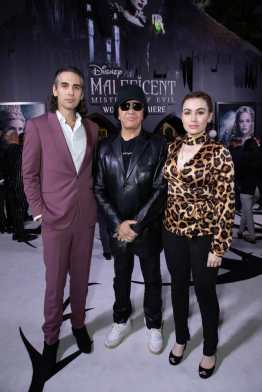 Nick Simmons, Gene Simmons and Sophie Simmons attend the World Premiere of DisneyÕs ÒMaleficent: Mistress of EvilÓ at the El Capitan Theatre in Hollywood, CA on September 30, 2019 .(photo: Alex J. Berliner/ABImages)