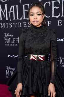 """HOLLYWOOD, CALIFORNIA - SEPTEMBER 30: Navia Robinson attends the World Premiere of Disney's """"Maleficent: Mistress of Evil"""" at the El Capitan Theatre on September 30, 2019 in Hollywood, California. (Photo by Alberto E. Rodriguez/Getty Images for Disney)"""