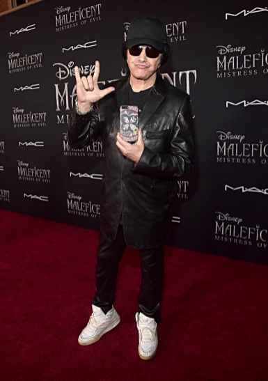 "HOLLYWOOD, CALIFORNIA - SEPTEMBER 30: Gene Simmons attends the World Premiere of Disney's ""Maleficent: Mistress of Evil"" at the El Capitan Theatre on September 30, 2019 in Hollywood, California. (Photo by Alberto E. Rodriguez/Getty Images for Disney)"