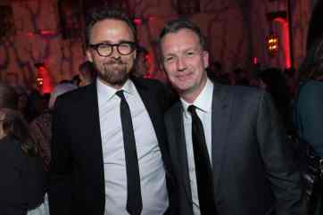 """Joachim Ronning and Sean Bailey attend the World Premiere of Disney's """"Maleficent: Mistress of Evil"""" after party The Hollywood Roosevelt in Hollywood, CA on September 30, 2019 (photo: Alex J. Berliner/ABImages)"""