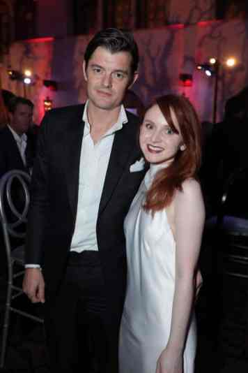 """Sam Riley and Jenn Murray attend the World Premiere of Disney's """"Maleficent: Mistress of Evil"""" after party The Hollywood Roosevelt in Hollywood, CA on September 30, 2019 (photo: Alex J. Berliner/ABImages)"""