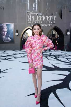 """Ruby Jay attends the World Premiere of Disney's """"Maleficent: Mistress of Evil"""" at the El Capitan Theatre in Hollywood, CA on September 30, 2019 .(photo: Alex J. Berliner/ABImages)"""