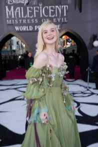 "Elle Fanning attends the World Premiere of Disney's ""Maleficent: Mistress of Evil"" at the El Capitan Theatre in Hollywood, CA on September 30, 2019 .(photo: Alex J. Berliner/ABImages)"