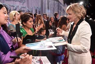 "HOLLYWOOD, CALIFORNIA - NOVEMBER 07: Actress Martha Plimpton attends the world premiere of Disney's ""Frozen 2"" at Hollywood's Dolby Theatre on Thursday, November 7, 2019 in Hollywood, California. (Photo by Alberto E. Rodriguez/Getty Images for Disney)"