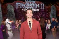 """HOLLYWOOD, CALIFORNIA - NOVEMBER 07: Actor Jonathan Groff attends the world premiere of Disney's """"Frozen 2"""" at Hollywood's Dolby Theatre on Thursday, November 7, 2019 in Hollywood, California. (Photo by Alberto E. Rodriguez/Getty Images for Disney)"""