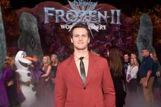 "HOLLYWOOD, CALIFORNIA - NOVEMBER 07: Actor Jonathan Groff attends the world premiere of Disney's ""Frozen 2"" at Hollywood's Dolby Theatre on Thursday, November 7, 2019 in Hollywood, California. (Photo by Alberto E. Rodriguez/Getty Images for Disney)"