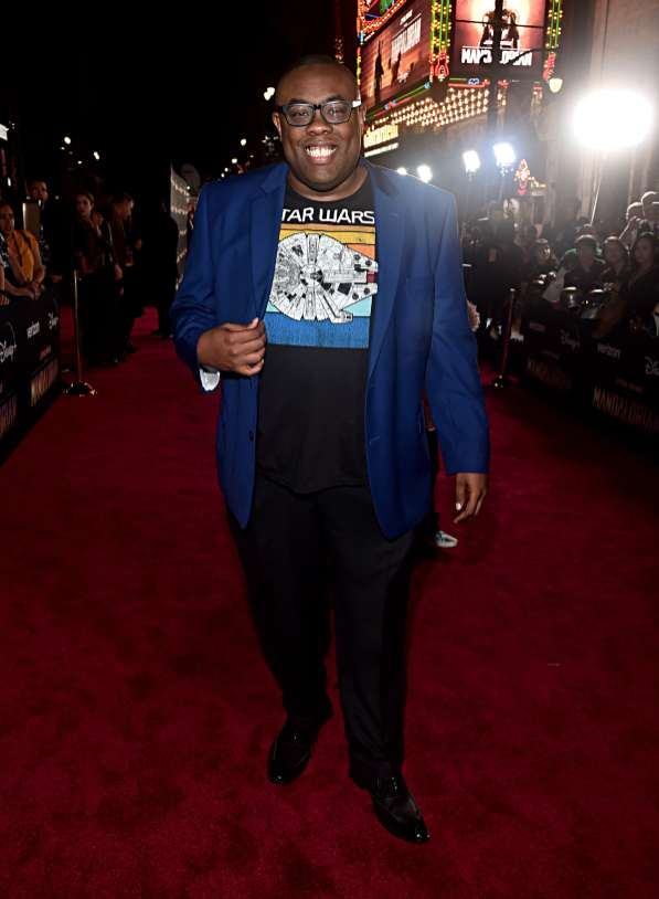 "HOLLYWOOD, CALIFORNIA - NOVEMBER 13: Andre Meadows arrives at the premiere of Lucasfilm's first-ever, live-action series, ""The Mandalorian,"" at the El Capitan Theatre in Hollywood, Calif. on November 13, 2019. ""The Mandalorian"" streams exclusively on Disney+. (Photo by Alberto E. Rodriguez/Getty Images for Disney)"