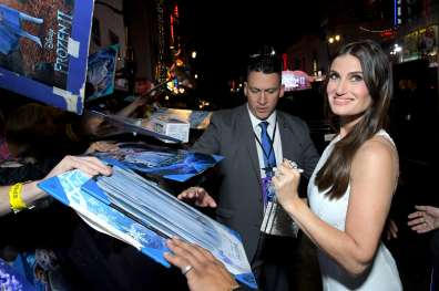 "HOLLYWOOD, CALIFORNIA - NOVEMBER 07: Actress Idina Menzel attends the world premiere of Disney's ""Frozen 2"" at Hollywood's Dolby Theatre on Thursday, November 7, 2019 in Hollywood, California. (Photo by Charley Gallay/Getty Images for Disney)"