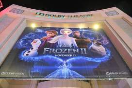 """HOLLYWOOD, CALIFORNIA - NOVEMBER 07: A view of the signage at the world premiere of Disney's """"Frozen 2"""" at Hollywood's Dolby Theatre on Thursday, November 7, 2019 in Hollywood, California. (Photo by Charley Gallay/Getty Images for Disney)"""