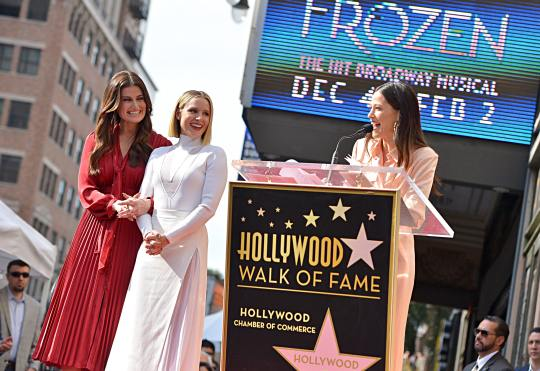 LOS ANGELES, CALIFORNIA - NOVEMBER 19: Jackie Tohn attends the double Walk of Fame ceremony in Hollywood, Calif., where Kristen Bell and Idina Menzel from Disney's FROZEN 2 were each presented with a star on the Hollywood Walk of Fame on November 19, 2020. (Photo by Charley Gallay/Getty Images for Disney )