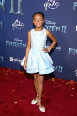"HOLLYWOOD, CALIFORNIA - NOVEMBER 07: Faithe C. Herman attends the world premiere of Disney's ""Frozen 2"" at Hollywood's Dolby Theatre on Thursday, November 7, 2019 in Hollywood, California. (Photo by Jesse Grant/Getty Images for Disney)"