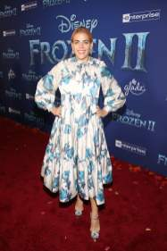 "HOLLYWOOD, CALIFORNIA - NOVEMBER 07: Busy Philipps attends the world premiere of Disney's ""Frozen 2"" at Hollywood's Dolby Theatre on Thursday, November 7, 2019 in Hollywood, California. (Photo by Jesse Grant/Getty Images for Disney)"