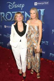 """HOLLYWOOD, CALIFORNIA - NOVEMBER 07: Actors Martha Plimpton and Ever Carradine attend the world premiere of Disney's """"Frozen 2"""" at Hollywood's Dolby Theatre on Thursday, November 7, 2019 in Hollywood, California. (Photo by Jesse Grant/Getty Images for Disney)"""