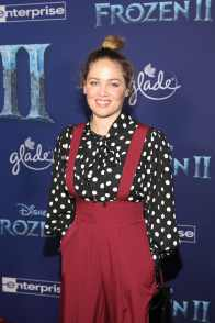 """HOLLYWOOD, CALIFORNIA - NOVEMBER 07: Erika Christensen attends the world premiere of Disney's """"Frozen 2"""" at Hollywood's Dolby Theatre on Thursday, November 7, 2019 in Hollywood, California. (Photo by Jesse Grant/Getty Images for Disney)"""