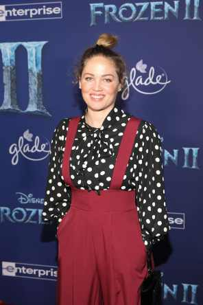 "HOLLYWOOD, CALIFORNIA - NOVEMBER 07: Erika Christensen attends the world premiere of Disney's ""Frozen 2"" at Hollywood's Dolby Theatre on Thursday, November 7, 2019 in Hollywood, California. (Photo by Jesse Grant/Getty Images for Disney)"