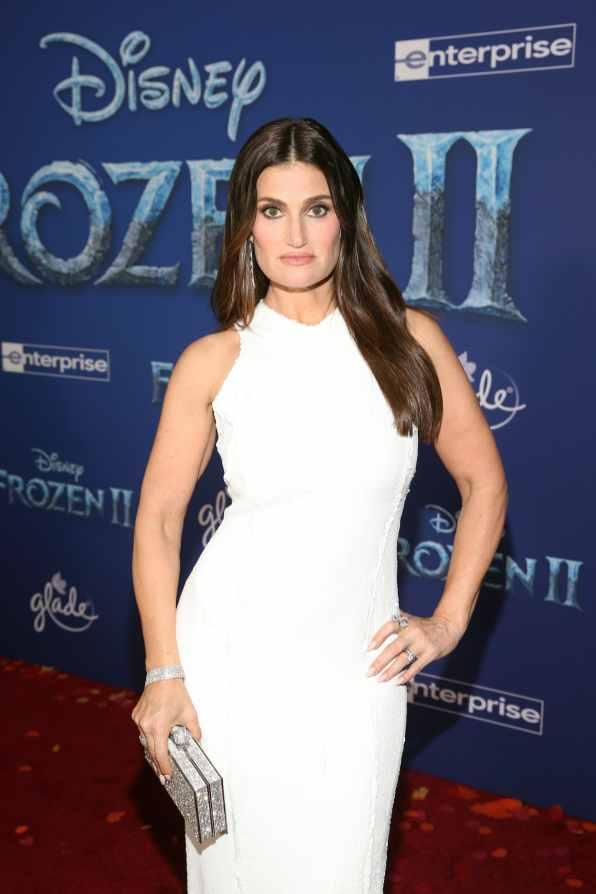"HOLLYWOOD, CALIFORNIA - NOVEMBER 07: Actor Idina Menzel attends the world premiere of Disney's ""Frozen 2"" at Hollywood's Dolby Theatre on Thursday, November 7, 2019 in Hollywood, California. (Photo by Jesse Grant/Getty Images for Disney)"