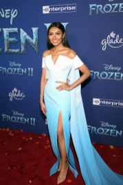 "HOLLYWOOD, CALIFORNIA - NOVEMBER 07: Wichayanee Piaklin attends the world premiere of Disney's ""Frozen 2"" at Hollywood's Dolby Theatre on Thursday, November 7, 2019 in Hollywood, California. (Photo by Jesse Grant/Getty Images for Disney)"