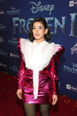 """HOLLYWOOD, CALIFORNIA - NOVEMBER 07: Nuengthida Sophon attends the world premiere of Disney's """"Frozen 2"""" at Hollywood's Dolby Theatre on Thursday, November 7, 2019 in Hollywood, California. (Photo by Jesse Grant/Getty Images for Disney)"""