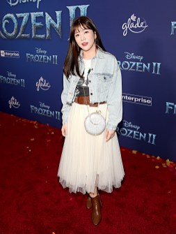 "HOLLYWOOD, CALIFORNIA - NOVEMBER 07: Seul-Gi An attends the world premiere of Disney's ""Frozen 2"" at Hollywood's Dolby Theatre on Thursday, November 7, 2019 in Hollywood, California. (Photo by Jesse Grant/Getty Images for Disney)"