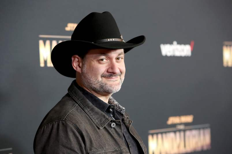 "HOLLYWOOD, CALIFORNIA - NOVEMBER 13: Executive producer/director Dave Filoni arrives at the premiere of Lucasfilm's first-ever, live-action series, ""The Mandalorian,"" at the El Capitan Theatre in Hollywood, Calif. on November 13, 2019. ""The Mandalorian"" streams exclusively on Disney+. (Photo by Jesse Grant/Getty Images for Disney)"