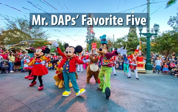 Mr. DAPs' Favorite Five