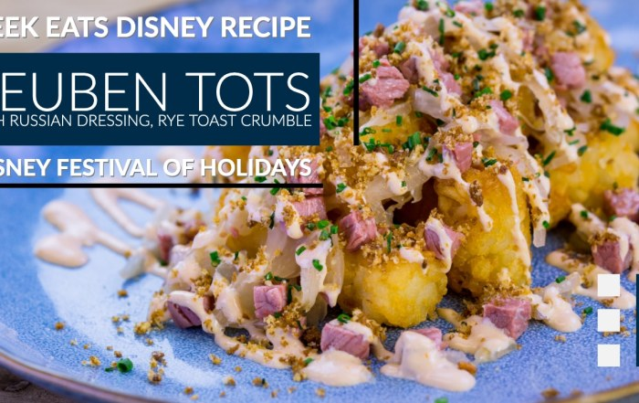 Reuben Tots GEEK EATS Disney Recipe