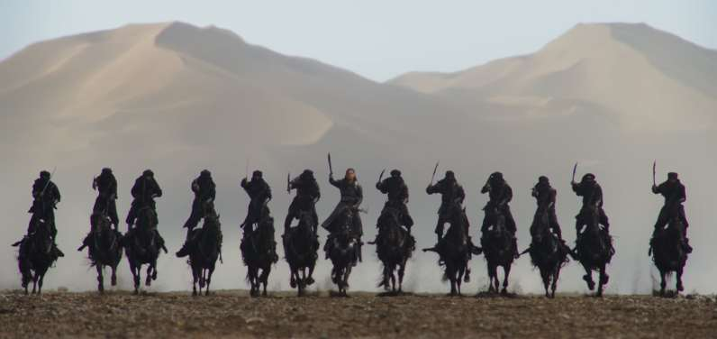 Disney's MULAN..Bori Khan (Jason Scott Lee) and his troops..Photo: Film Frame..© 2019 Disney Enterprises, Inc. All Rights Reserved.