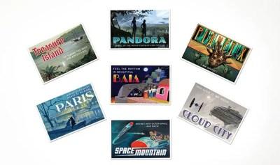 D23 2020 Gold Member Gift Fantastic Worlds Postcard Set