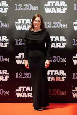 TOKYO, JAPAN - DECEMBER 11: Lucasfilm President/Producer Kathleen Kennedy attends the special fan event for 'Star Wars: The Rise of Skywalker' at Roppongi Hills on December 11, 2019 in Tokyo, Japan. (Photo by Christopher Jue/Getty Images for Disney)