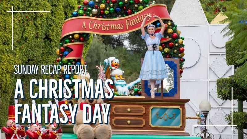 A Christmas Fantasy Day - Sunday Recap Report