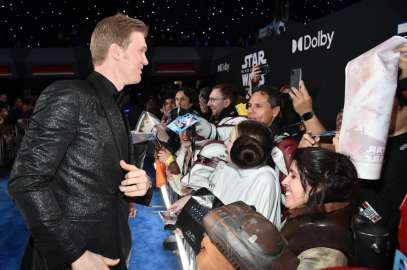 "HOLLYWOOD, CALIFORNIA - DECEMBER 16: Joonas Suotamo arrives for the World Premiere of ""Star Wars: The Rise of Skywalker"", the highly anticipated conclusion of the Skywalker saga on December 16, 2019 in Hollywood, California. (Photo by Alberto E. Rodriguez/Getty Images for Disney)"