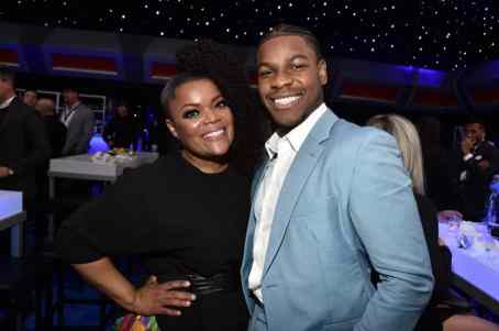 "HOLLYWOOD, CALIFORNIA - DECEMBER 16: (L-R) Yvette Nicole Brown and John Boyega attend the World Premiere of ""Star Wars: The Rise of Skywalker"", the highly anticipated conclusion of the Skywalker saga on December 16, 2019 in Hollywood, California. (Photo by Alberto E. Rodriguez/Getty Images for Disney)"