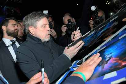 "HOLLYWOOD, CALIFORNIA - DECEMBER 16: Mark Hamill arrives for the World Premiere of ""Star Wars: The Rise of Skywalker"", the highly anticipated conclusion of the Skywalker saga on December 16, 2019 in Hollywood, California. (Photo by Charley Gallay/Getty Images for Disney)"