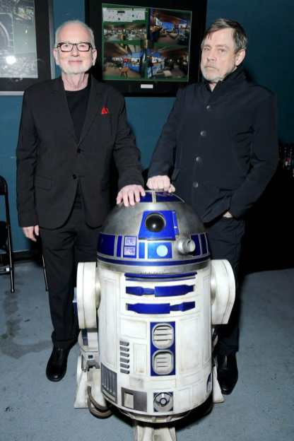 "HOLLYWOOD, CALIFORNIA - DECEMBER 16: (L-R) Ian McDiarmid and Mark Hamill arrive for the World Premiere of ""Star Wars: The Rise of Skywalker"", the highly anticipated conclusion of the Skywalker saga on December 16, 2019 in Hollywood, California. (Photo by Charley Gallay/Getty Images for Disney)"