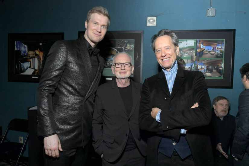 "HOLLYWOOD, CALIFORNIA - DECEMBER 16: (L-R) Joonas Suotamo, Ian McDiarmid and Richard E. Grant arrive for the World Premiere of ""Star Wars: The Rise of Skywalker"", the highly anticipated conclusion of the Skywalker saga on December 16, 2019 in Hollywood, California. (Photo by Charley Gallay/Getty Images for Disney)"