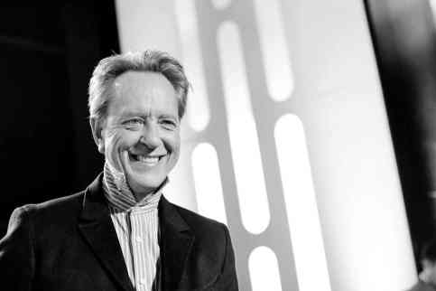 "HOLLYWOOD, CALIFORNIA - DECEMBER 16: (EDITORS NOTE: Image has been shot in black and white. Color version not available.) Richard E. Grant arrives for the World Premiere of ""Star Wars: The Rise of Skywalker"", the highly anticipated conclusion of the Skywalker saga on December 16, 2019 in Hollywood, California. (Photo by Charley Gallay/Getty Images for Disney)"