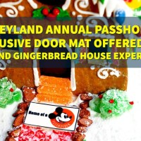 Disneyland Annual Passholder Exclusive Door Mat Offered For A Grand Gingerbread House Experience at Disney's Grand Californian Hotel & Spa