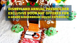 Disneyland Annual Passholder Exclusive Door Mat Offered For A Grand Gingerbread House Experience