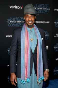 "HOLLYWOOD, CALIFORNIA - DECEMBER 16: Ahmed Best arrives for the World Premiere of ""Star Wars: The Rise of Skywalker"", the highly anticipated conclusion of the Skywalker saga on December 16, 2019 in Hollywood, California. (Photo by Jesse Grant/Getty Images for Disney)"