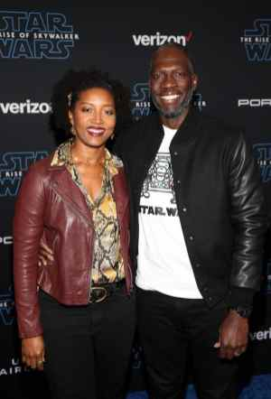 "HOLLYWOOD, CALIFORNIA - DECEMBER 16: (L-R) Glenita Mosley and Rick Famuyiwa arrive for the World Premiere of ""Star Wars: The Rise of Skywalker"", the highly anticipated conclusion of the Skywalker saga on December 16, 2019 in Hollywood, California. (Photo by Jesse Grant/Getty Images for Disney)"