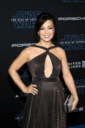 "HOLLYWOOD, CALIFORNIA - DECEMBER 16: Ming-Na Wen arrives for the World Premiere of ""Star Wars: The Rise of Skywalker"", the highly anticipated conclusion of the Skywalker saga on December 16, 2019 in Hollywood, California. (Photo by Jesse Grant/Getty Images for Disney)"