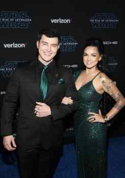 "HOLLYWOOD, CALIFORNIA - DECEMBER 16: (L-R) Christopher Sean and Laneya Arvizu arrive for the World Premiere of ""Star Wars: The Rise of Skywalker"", the highly anticipated conclusion of the Skywalker saga on December 16, 2019 in Hollywood, California. (Photo by Jesse Grant/Getty Images for Disney)"