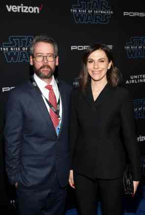 "HOLLYWOOD, CALIFORNIA - DECEMBER 16: Producer Michelle Rejwan (R) arrives for the World Premiere of ""Star Wars: The Rise of Skywalker"", the highly anticipated conclusion of the Skywalker saga on December 16, 2019 in Hollywood, California. (Photo by Jesse Grant/Getty Images for Disney)"